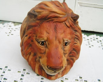 Vintage Bisque Porcelain Lion Head Pipe Rest Pipe Holder Pipe Rack Finely Detailed Man Cave Gift for Him Retro Lion Head Pipe Holder