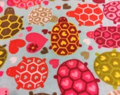 Adorable Sea turtle Flannel Fabric | Adorable turtle fabric for Girl  | fabric by the yard | Ocean Nursery Fabric