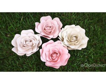Small Paper Flower Template - Small Rose, Paper Flowers, Paper Flower Backdrop, Template, Florals, DIY Paper Flowers