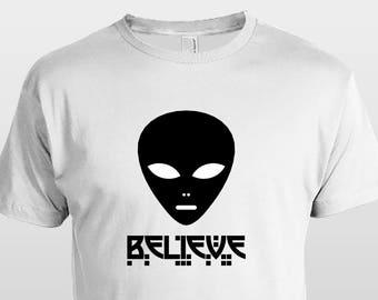 Believe alien  t shirt