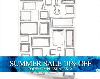Frames Peel & Stick Fabric Wallpaper Repositionable