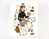 recipe witch postcard