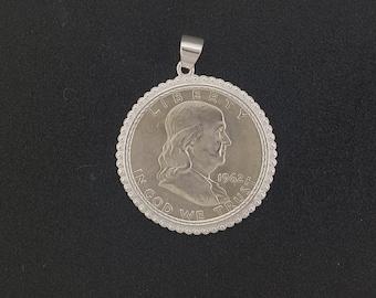 1962 Franklin half dollar pendant
