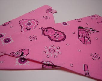 ALMOST GONE!  Pink Cowgirl Dog Scarf Over the Collar Dog Bandana