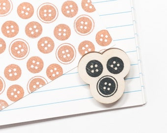 Button stamp, rubber stamp buttons, sewing stationery, sewing stamps, gift for seamstress, gift for dressmaker, for needlewoman, studio maas