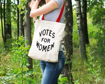 "Feminist Tote Bag: Historical ""Votes for Women"" Tote from Fourth Wave Feminist Apparel. Great gift!"