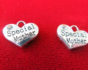 """BULK! 15pc """"Special mother"""" charms in antique silver style (BC269B)"""