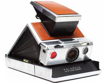 Vintage Polaroid SX-70 SX 70 Instant Film Land Camera Takes Impossible Project Film Made In USA 1970s Fully Operational