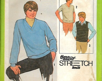 Simplicity  8640      Men's Pull-Over Top and Vest     size 38, 40, 42    Uncut