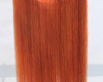 "Remhumhair: 14""/16""/18""/20"",Clip-on/Flip-in/Wire/Halo Hair Extensions,#350 Dark Ginger,100% Human Hair,Remy Hair,Straight Hair"
