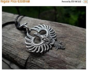 ON SALE Sterling Silver Firebird Phoenix Necklace