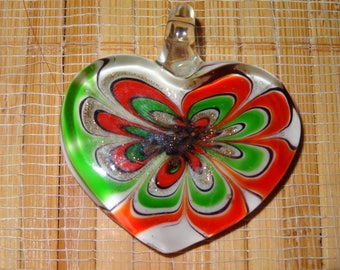 3 LAMPWORK PENDANTS 10.00 / Lampwork Heart Pendants / Glass Heart Pendants / Lampwork Pendants