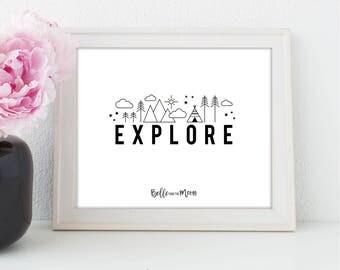 A4 Wall Art Print | Explore