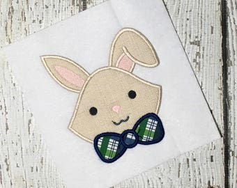 Rabbit Applique Design - Bunny Applique Design - Easter Applique Design