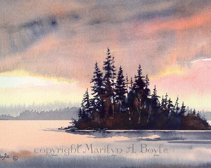 PRINT-WATERCOLOR SCENE; wall art, Canadian art, 140 lb watercolor paper,