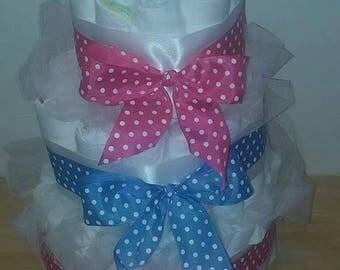 Gender Reveal Diaper Cake