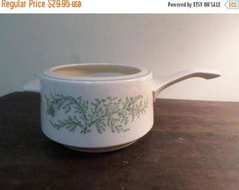 Save 25% Now Vintage Lenox Temper-ware Fancy Free Pattern Fondue Pot with Handle Excellent Condition