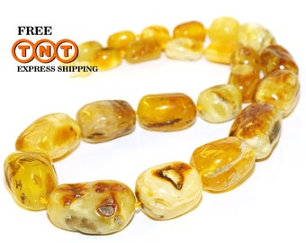 Baltic amber necklace -  Adult amber necklace - Massive necklace - Baltic amber jewelry - Healing necklace - Gift for Grandma - Gift for Her
