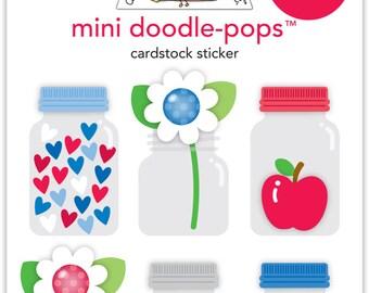 Doodlebug Design - Yankee Doodle Collection - Doodle-Pops - 3 Dimensional Cardstock Stickers 5576