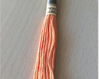 DMC stranded 722 spice orange six strands