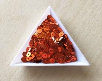 5 mm orange hologram sequin in bulk