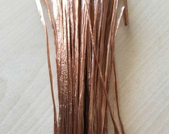"""Brown iridescent raffia """"special embroidery"""""""