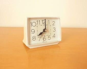 Mid Century Electric Alarm Clock- Working! Westclox USA- 50's/60's Night Table Bed Side Alarm Clock- Retro!