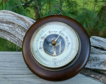 Atco Barometer Made in Germany Porcelain Face