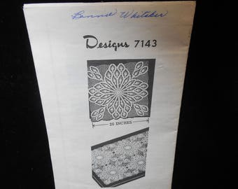 Crochet pattern Pineapple Large Crochet Square 20 inch Design 7143 Vintage 1946 Mailorder