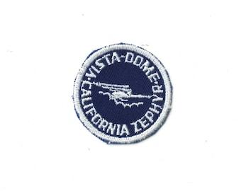 "Vintage Vista Dome California Zephyr Railroad Train West Coast Railway Embroidered Patch 2"" x 2"""