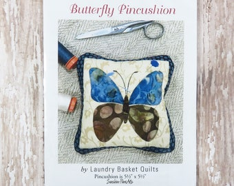 Butterfly Pincushion Pattern - Edyta Sitar - Laundry Basket Quilts - LBQ-0494-M
