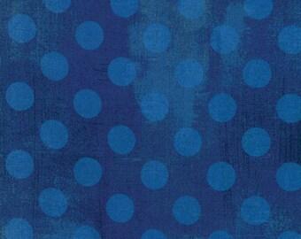 1/2 Yard - Grunge Hits the Spot - Cobalt - BasicGrey - Moda - Fabric Yardage - 30149 28