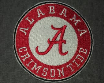 Alabama Crimson Tide College Football Team Iron on No Sew Embroidered Patch Applique