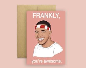 Frank Ocean Card (Celebrity Pop Culture Card, Greeting Card, Hip Hop Birthday Card)
