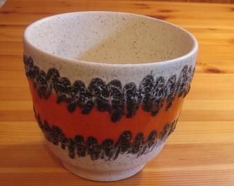 Bay Keramik Planter/Flower Pot - West German Fat Lava