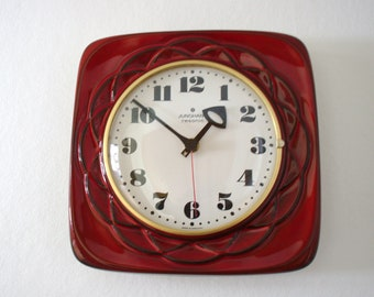 Vintage Junghans/Herbolzheimer Ceramic Wall Clock