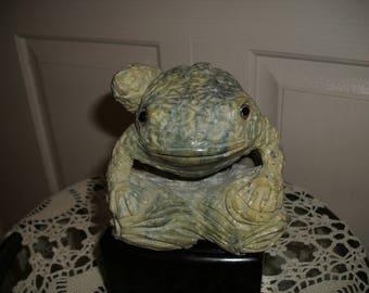 Large Frog Figurine