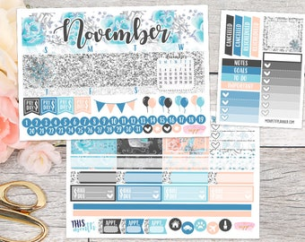 November Monthly Kit || Planner Stickers