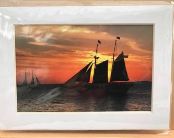 5 x7 Matted Ship Photo