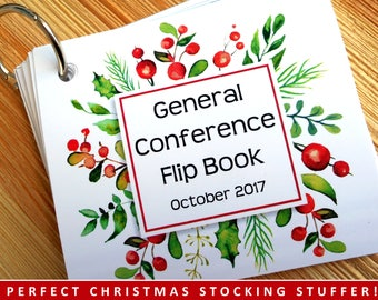 General Conference Christmas Flip Book , LDS General Conference, October 2017 sessions, LDS gift