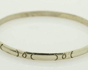 Solid Vintage Sterling Silver/925 Mexican Bangle Bracelet; 12.3gr; sku # 3510