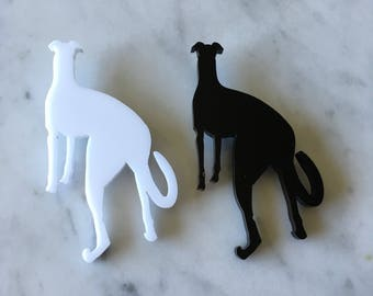 Greyhound Whippet Italian Greyhound Acrylic Brooch