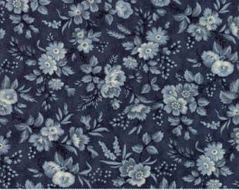 Snowberry Prints~Floral Delicate Sprays~Dark Blue~Cotton Fabric~Moda~Fast Shipping F924