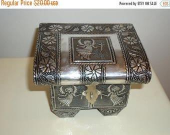 The SALE Is On SALE Angel Embossed Aluminum Jewelry/Trinket Box