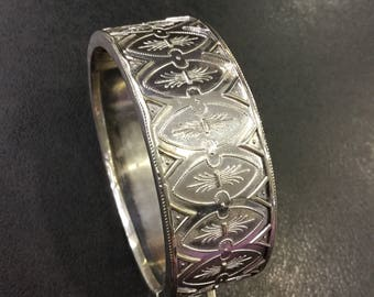 Victorian silver bangle ,for a small wrist