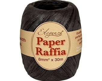 8 mm black raffia Ribbon