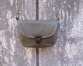 Libby Olive leather bag