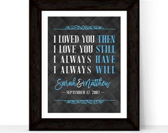 10 year anniversary gift for men women, custom gift for husband wife, 10th wedding anniversary gift for him her, I loved you then