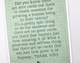 Surrogate Thank You card