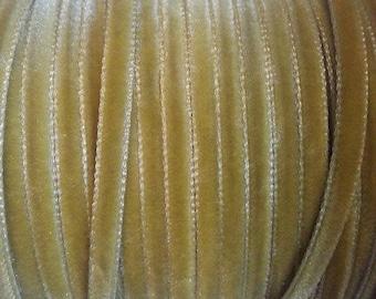 width of 0.4 mm mustard yellow velvet Ribbon